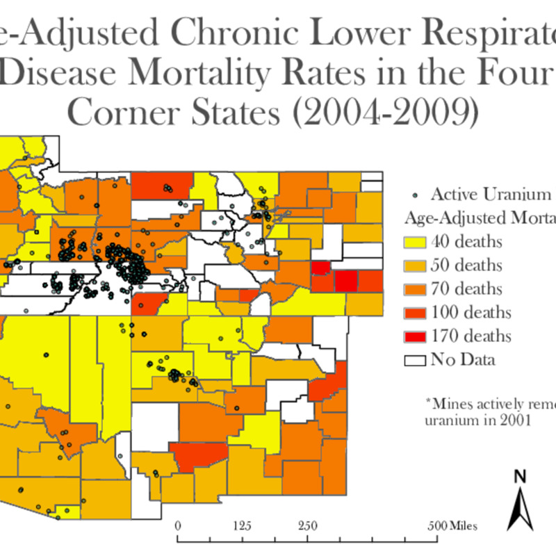 Age-Adjusted Chronic Lower Respiratory Disease (CLRD) Mortality Rates (2004-2009).