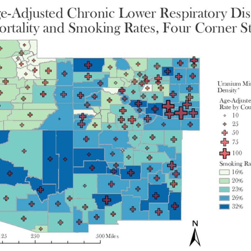 Age-Adjusted Chronic Lower Respiratory Disease Mortality and Smoking Rates (1999-2012)