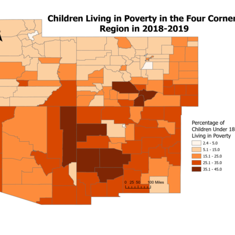 Children Living in Poverty in the Four Corners Region (2018-2019)