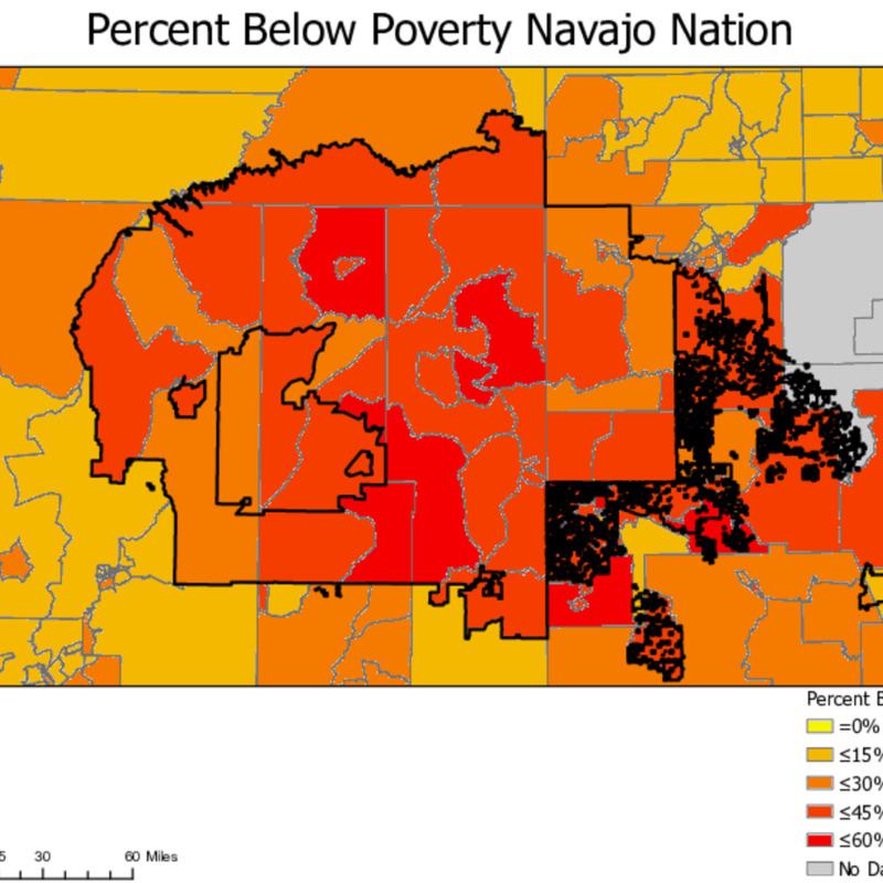 Percent Below Poverty Navajo Nation